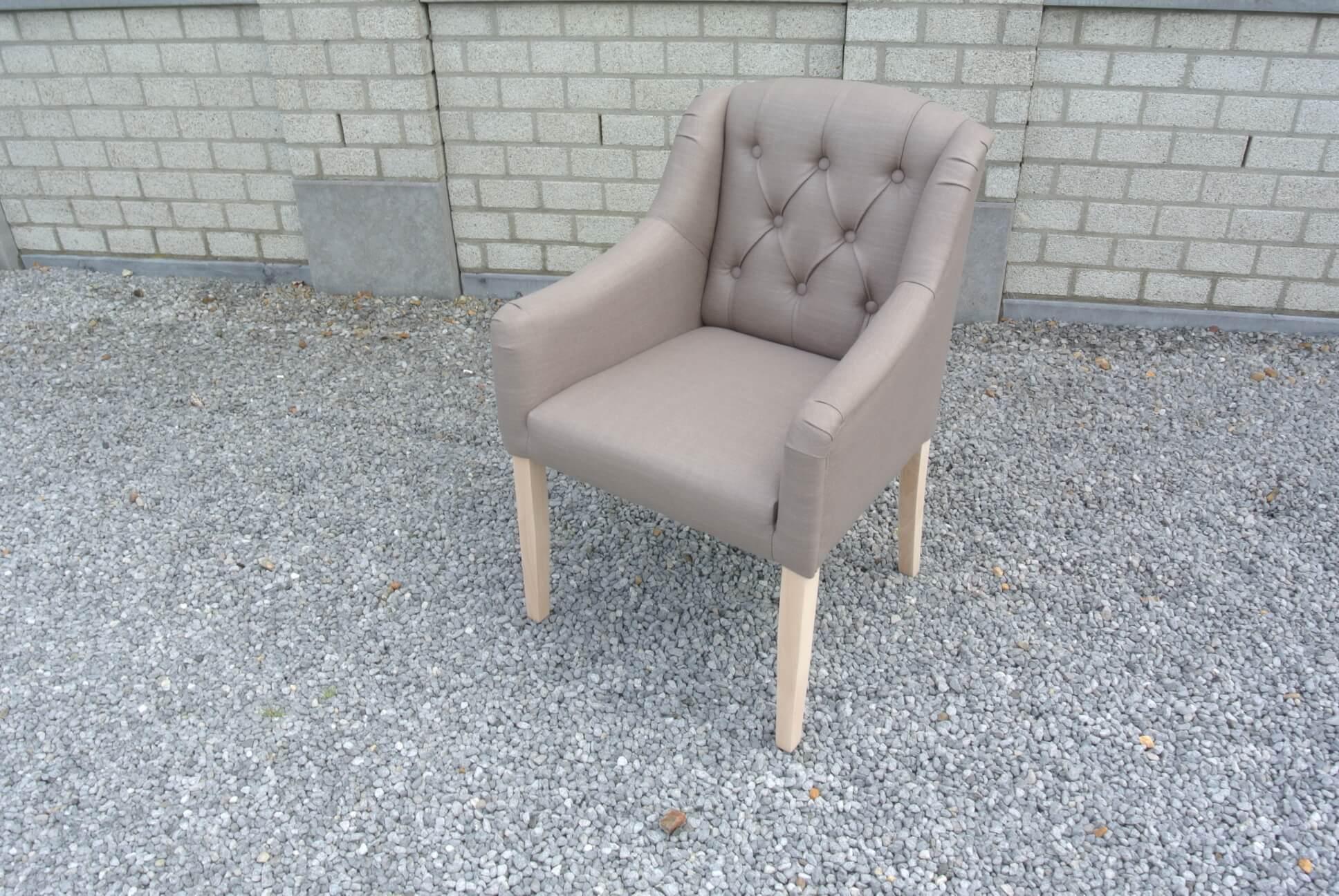 landelijk arm leun stoel in stof 4 verschillende kleuren