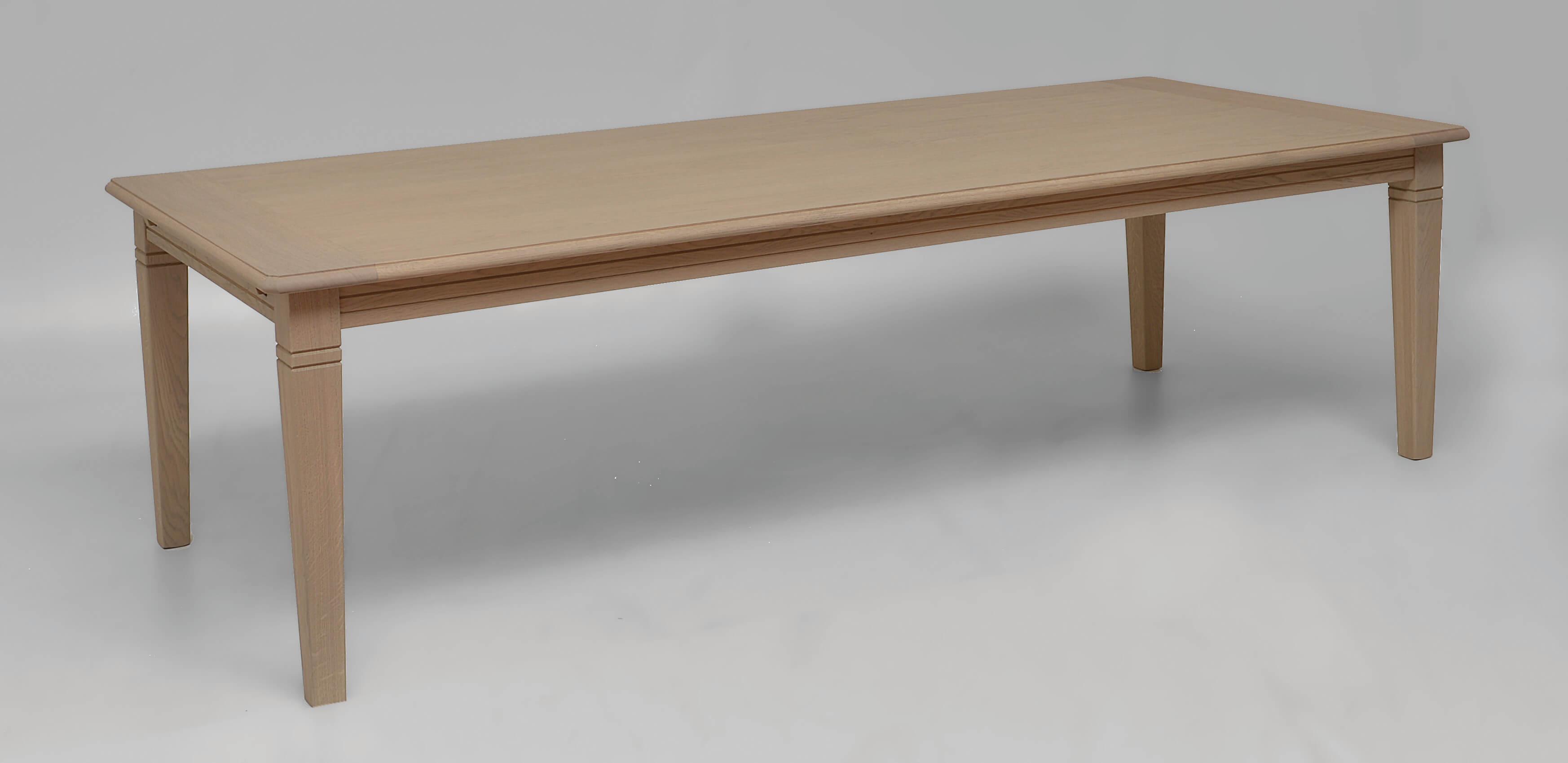 tafel eik in pastorij stijl en uitrekbaar