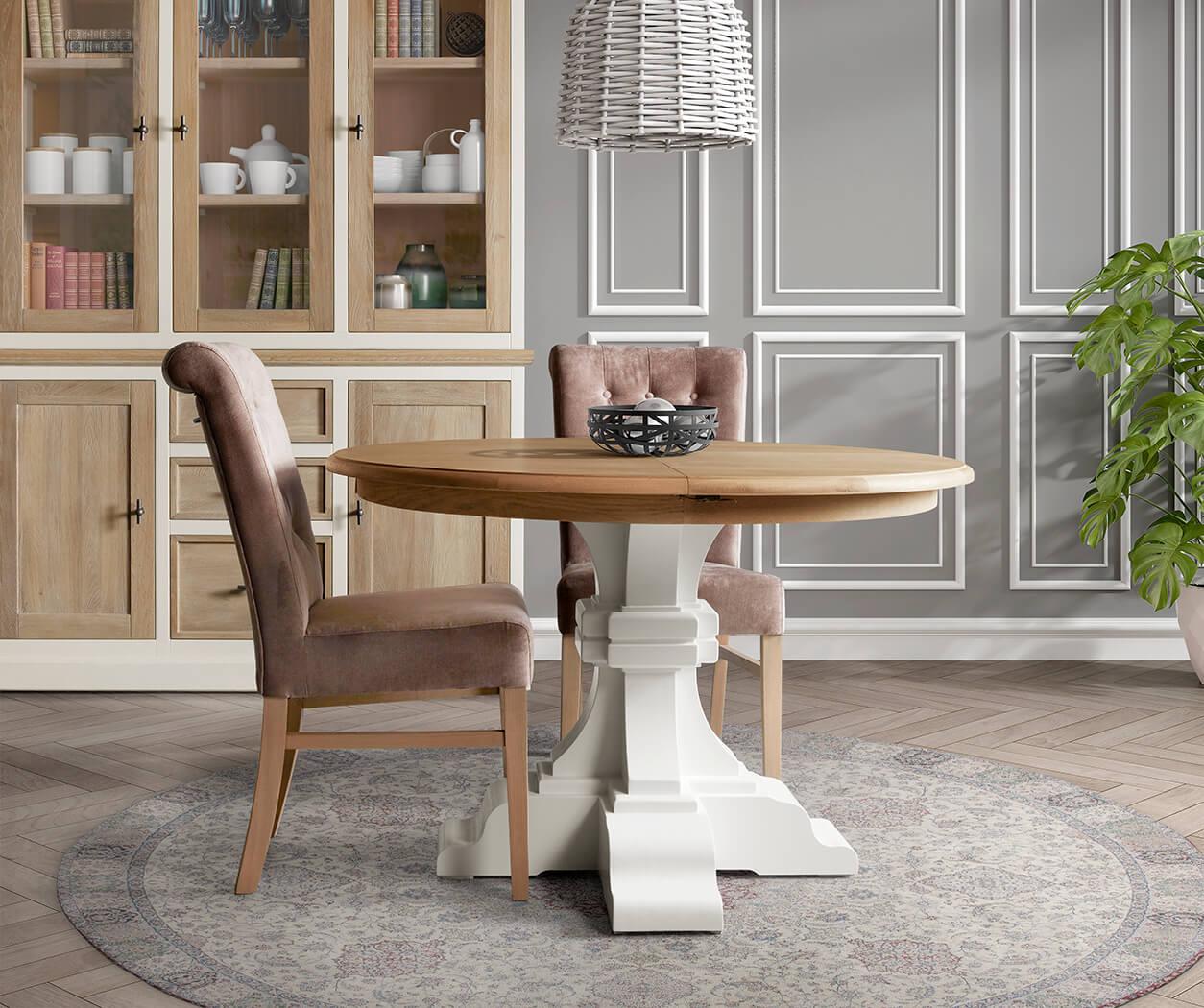 kloosterpoot tafels rond of ovaal in diverse kleuren