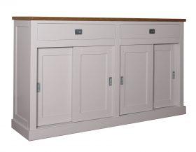 Strak landelijke dressoirs met schuif deuren