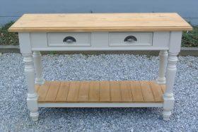 Side tafel cottage stijl afm 120x78x40 in 80 kleuren