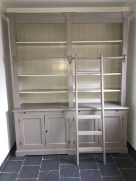 boekenkast met ladder in 80 kleuren mogelijk