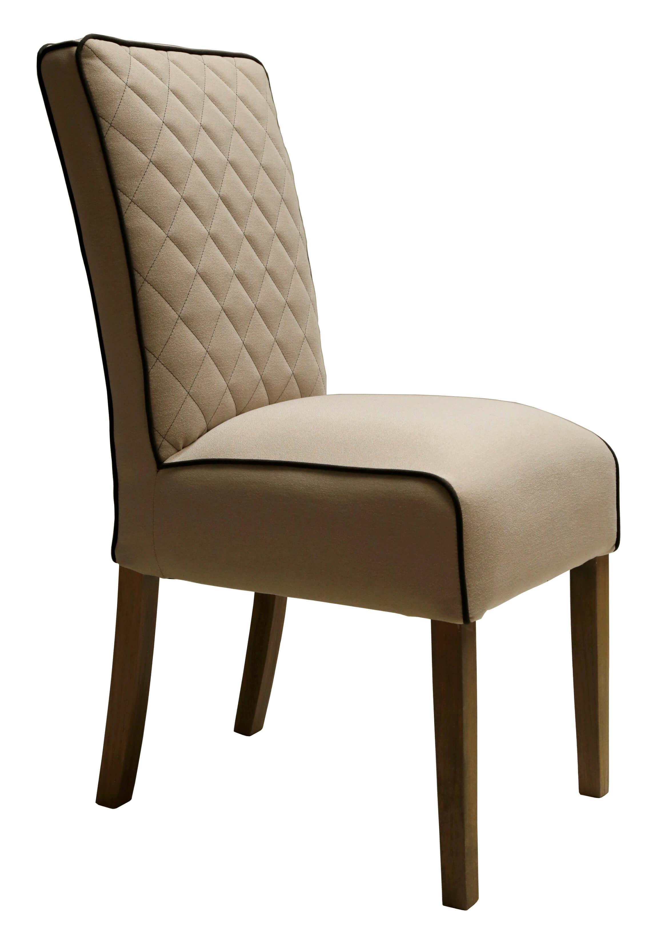 Landelijke stoel met ruit motief in diverse kleuren