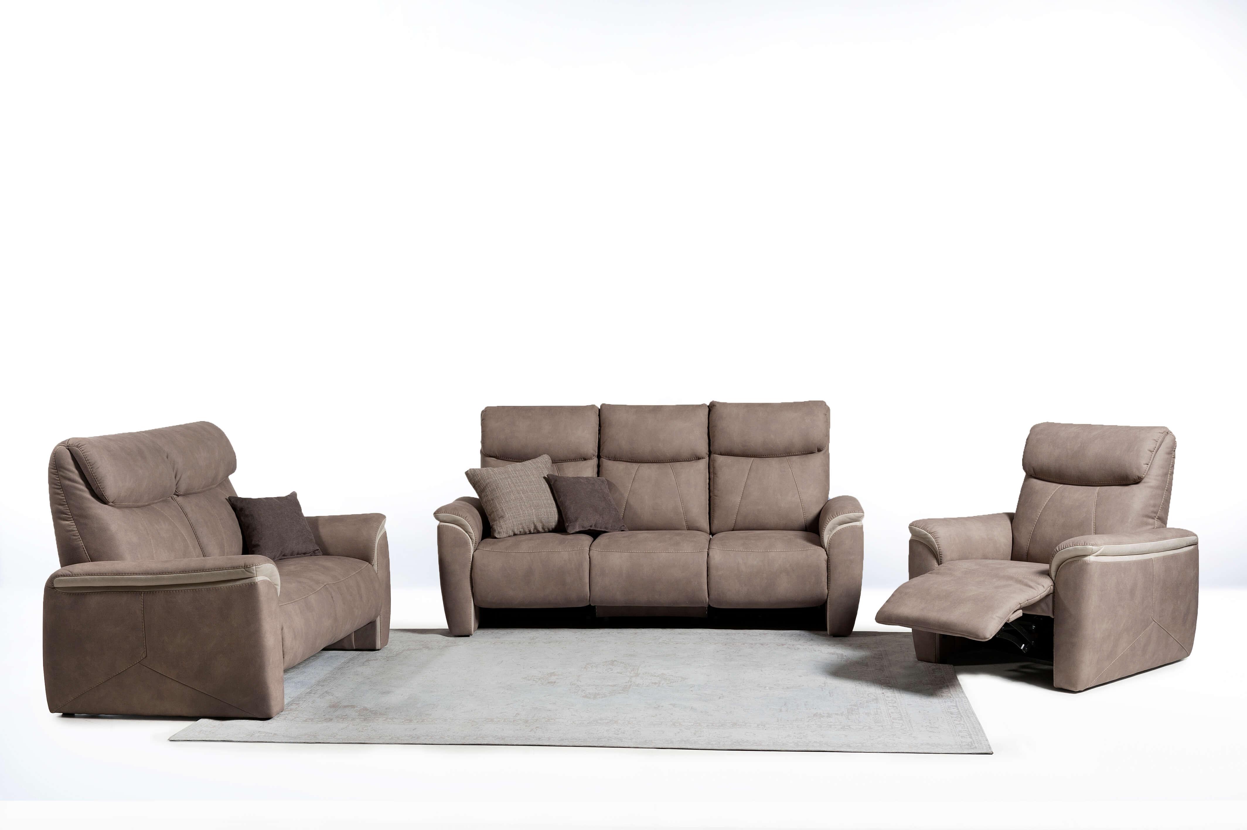 Relax zetels in stof of leder
