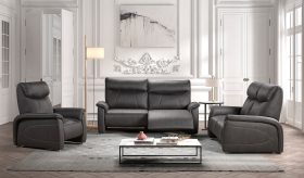 Zetels met relax functie en zelfs op batterij mogelijk leder of stof
