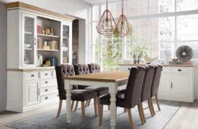 Landelijke tafels in cottage stijl diverse afmetingen en kleuren