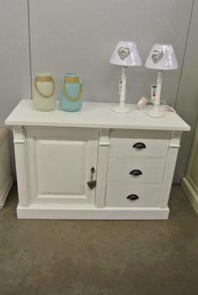 Cottage kast in wit speciaal model 3 schuiven en een deur
