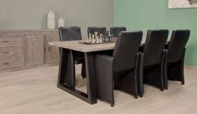 Strak landelijke tafels met metalen poten