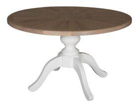Centrale poot tafels met eiken blad