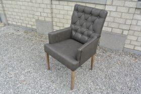 landelijke arm leun stoel in vintage leder 5 kleuren