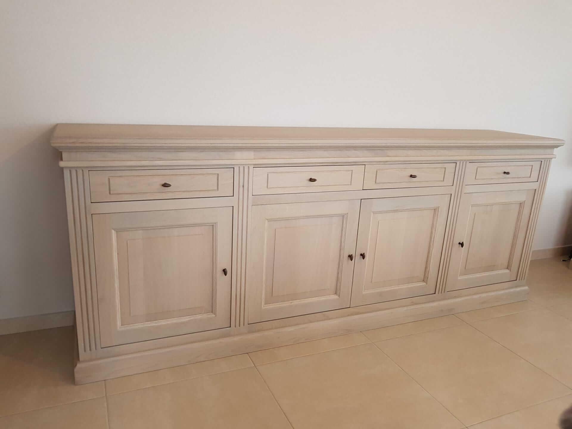 Landelijke eiken dressoir 4 deurs